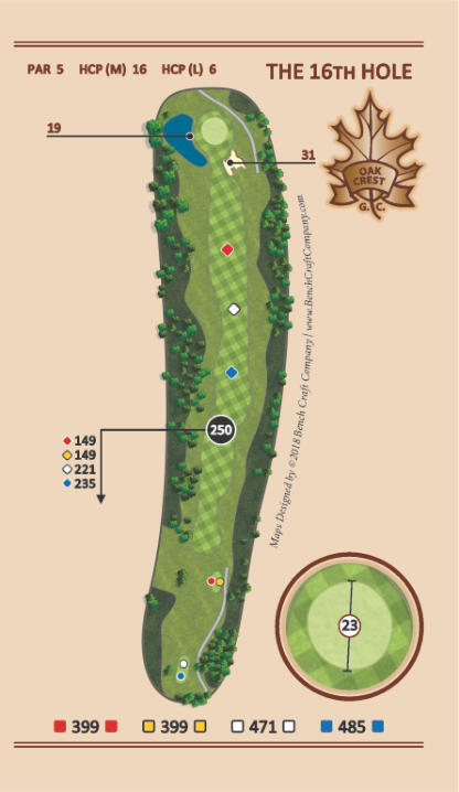 Hole 16 - Cattail - Oak Crest Golf Course